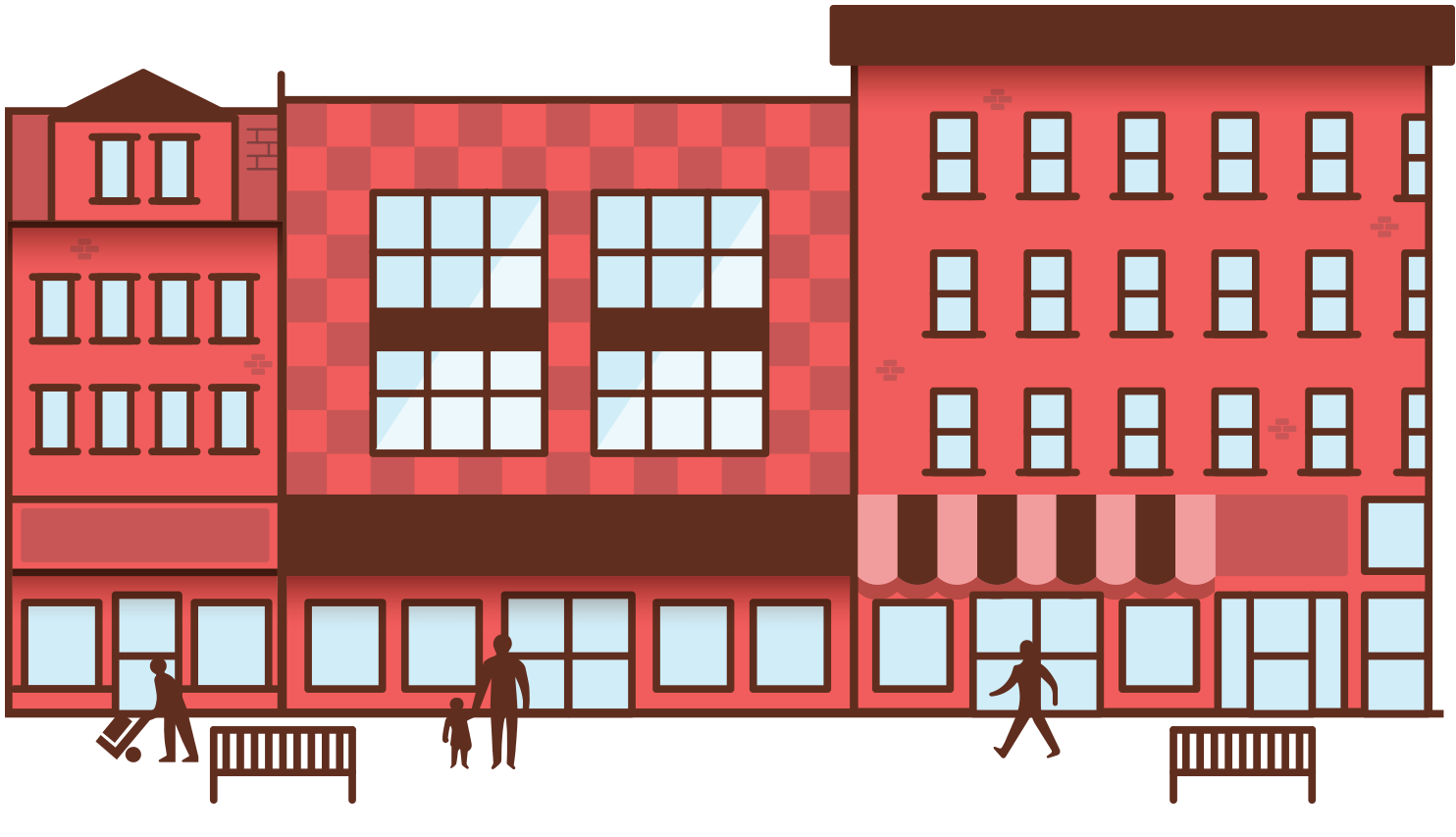 Illustration of downtown Northampton
