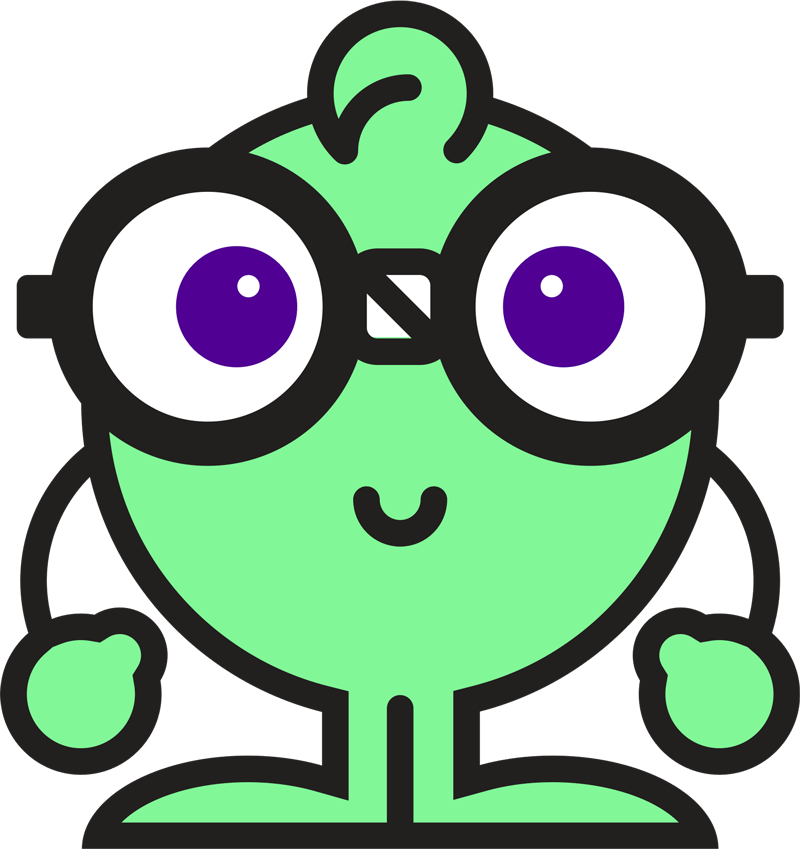 Lil' NERDy mascot peeking at you!