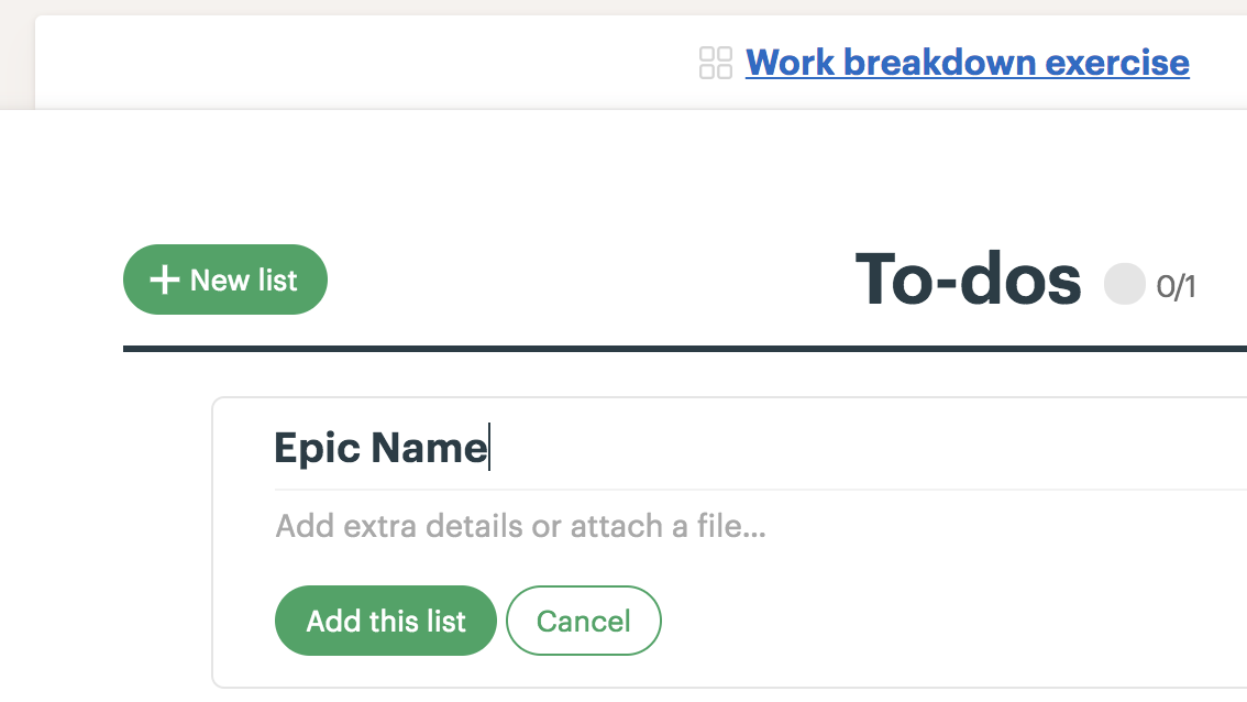 epics stories tasks subtasks in various tools of choice last