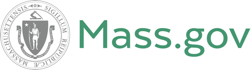 Logo for Mass.gov including The Commonwealth of Massachusetts seal and Mass.gov in green
