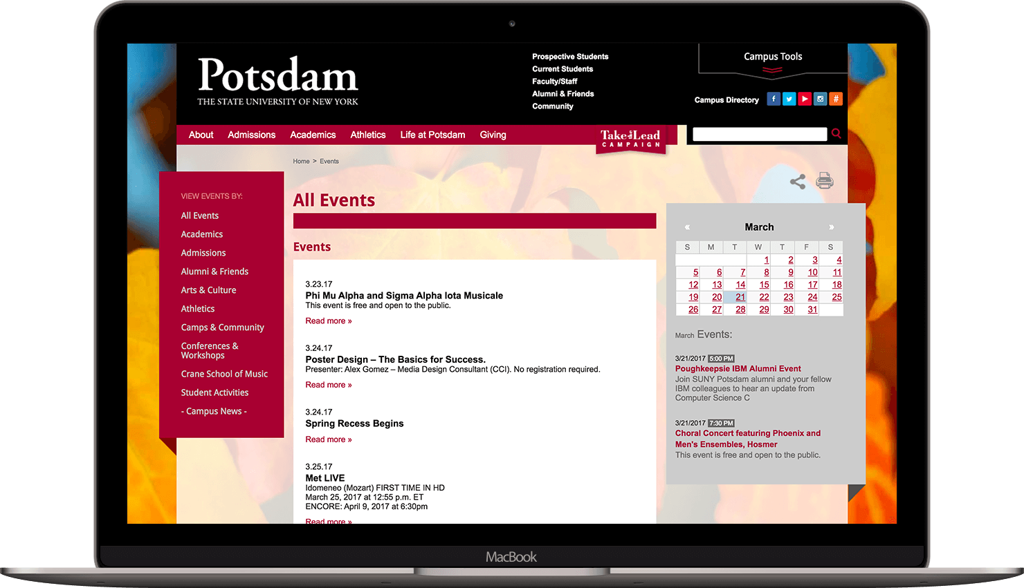 Potsdam Events Page