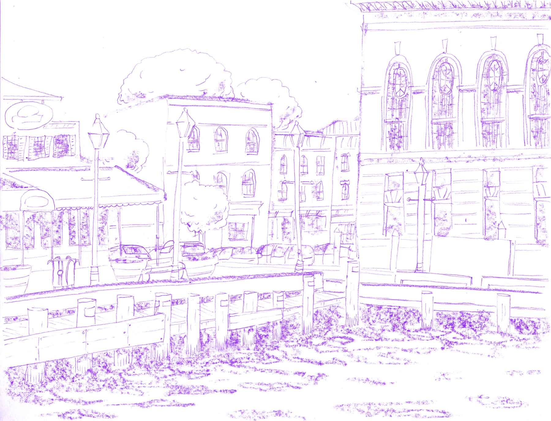 Illustration of Fells Point