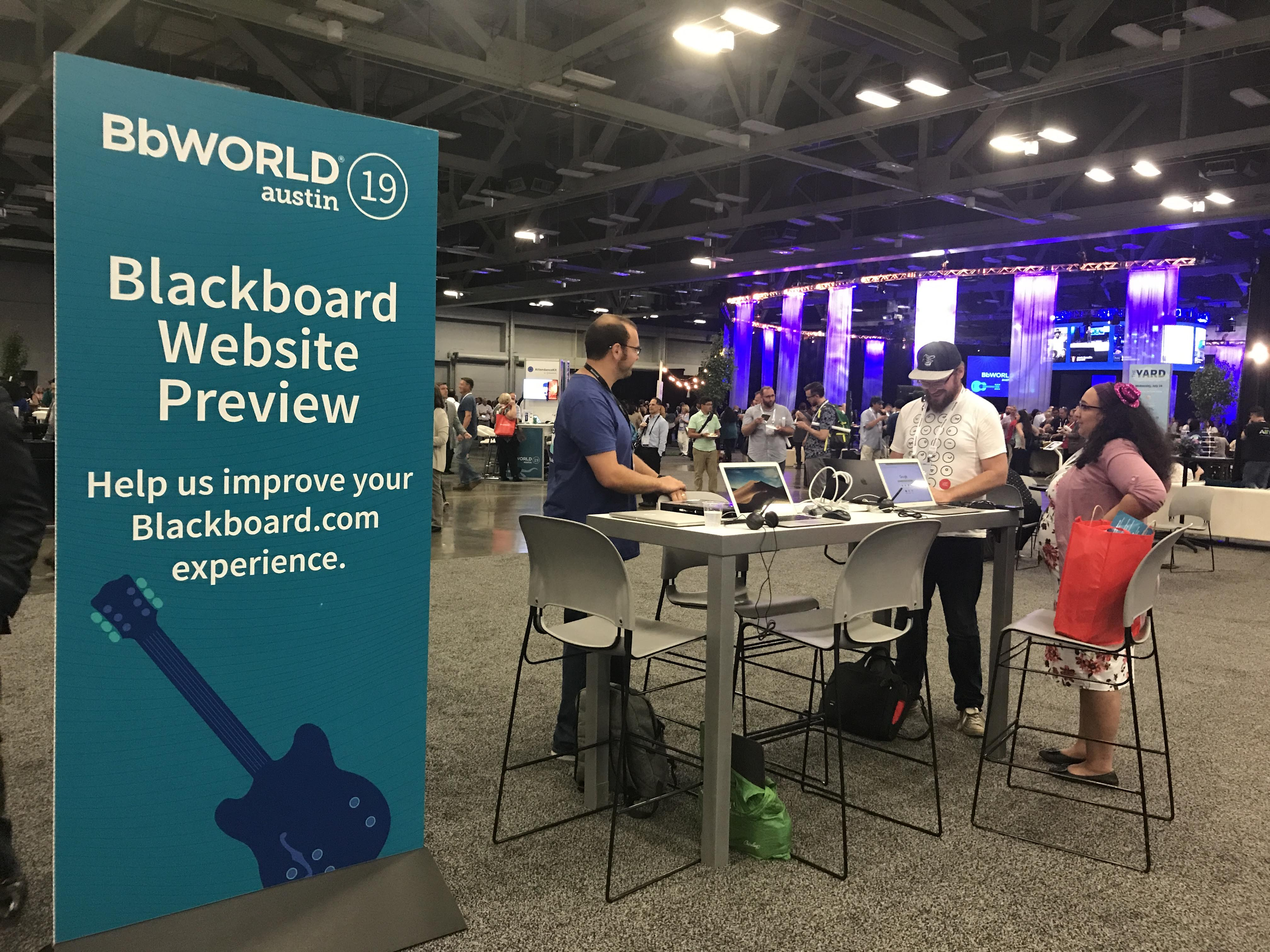 User testing at BbWorld