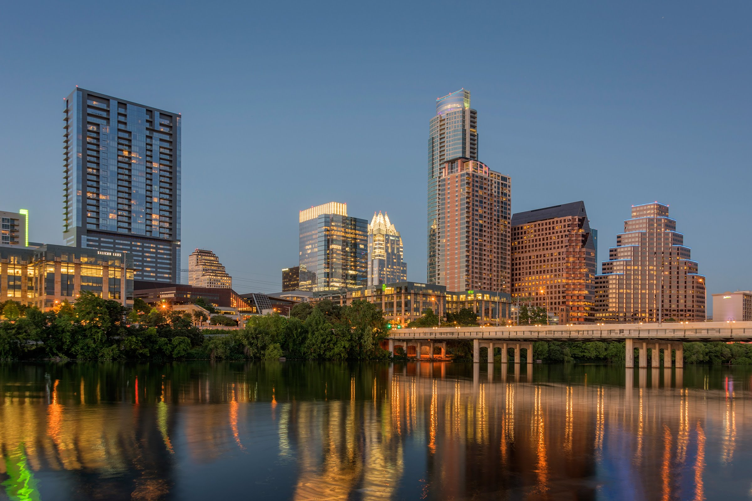 Austin, TX skyline at dusk