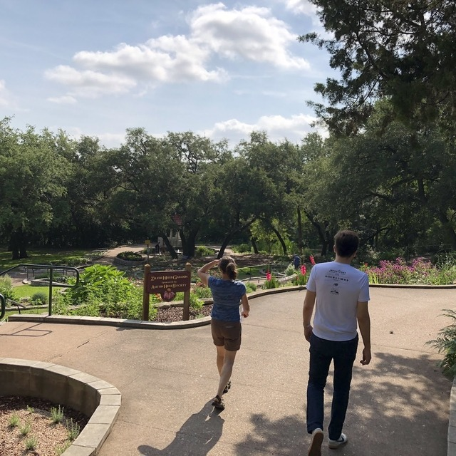Abby and Sean at Zilker Park for Saturday hiking and exploring