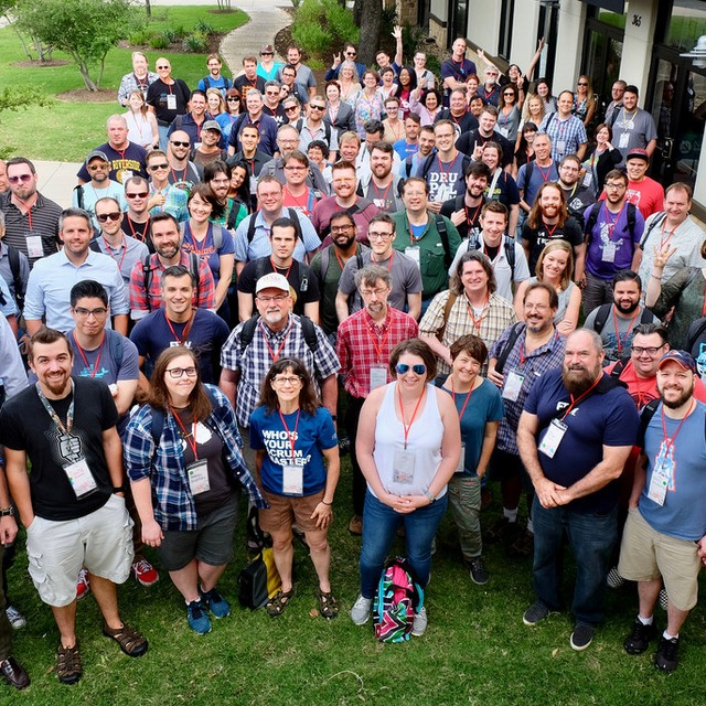 Texas Camp 2018 Group Photo of all attendees outside