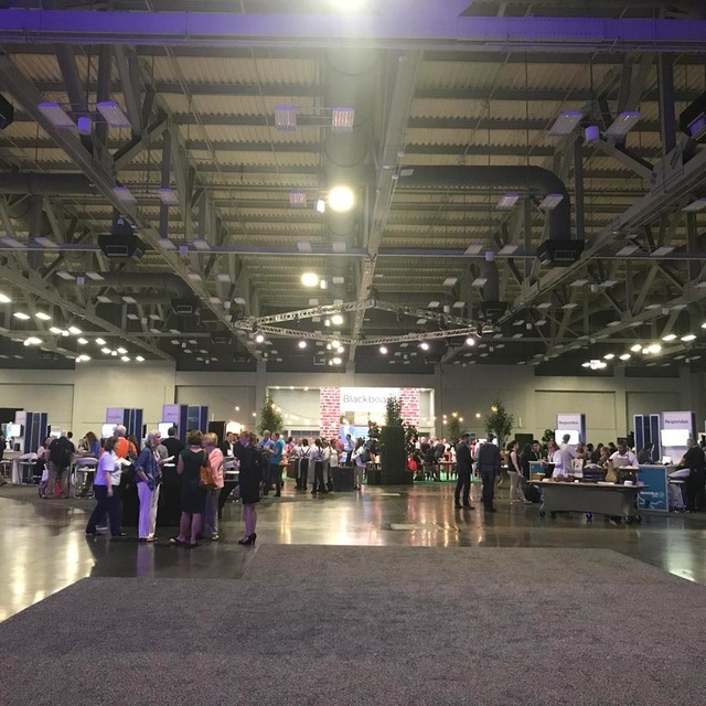 Photo of BBWorld event hall, with areas to converse.