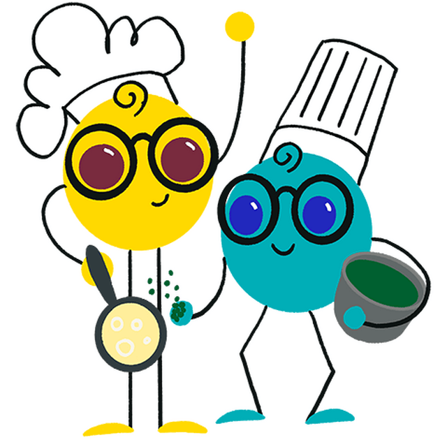 Nerdy and friend cooking together