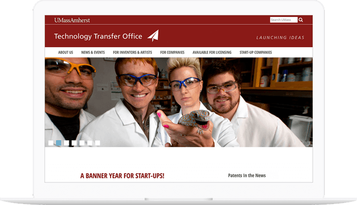Technology Transfer Office website displayed on a computer